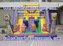 best selling commercial used and spongebob inflatable water slide for kids, inflatable slide SP-SL023