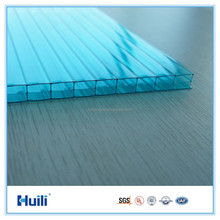 PC 8mm Polycarbonate Hollow 3 Wall Protection Sheet Blue Color for Building Elements