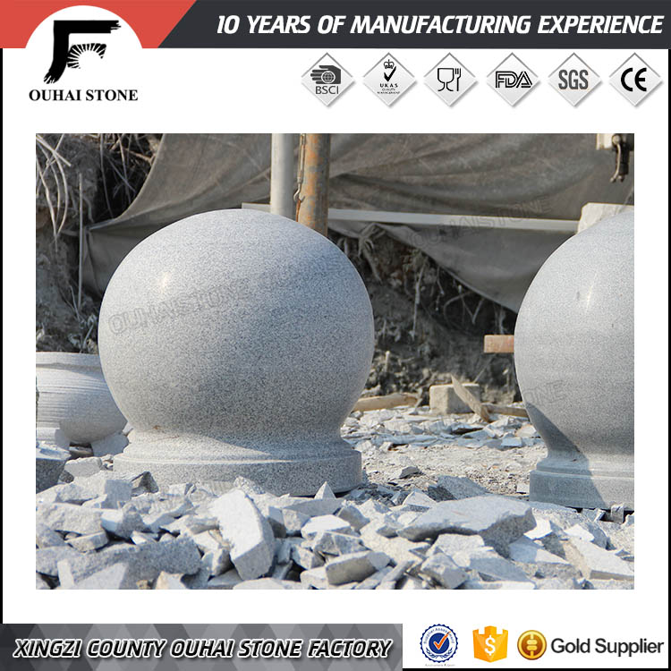 Promotional products landscaping machine carvings natural white park stone ball