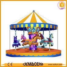 China mini fairground rides small carousel horse for sale
