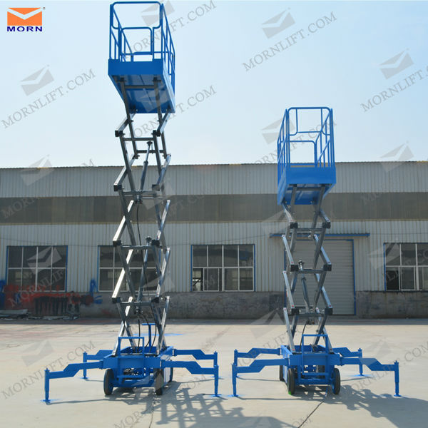 mobile hydraulic compact scissor lift for project