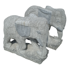 H263 Animal Statue Granite Marble Elephant Carving