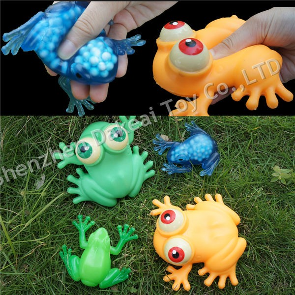 Squishy Sticky Frog stress animal ball rubber squeeze novelty toys