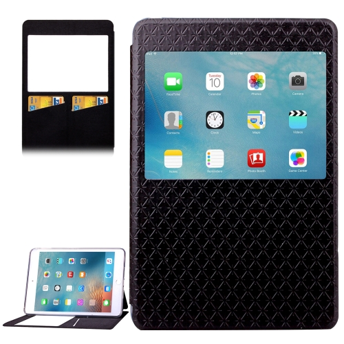 Argyles Texture Horizontal Flip Solid Color Leather Case for iPad Mini 4