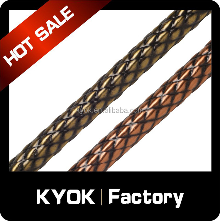 KYOK new design twisted lines aluminum curtain pole,fancy high quality curtain rod set