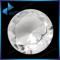 white round clear glass stones