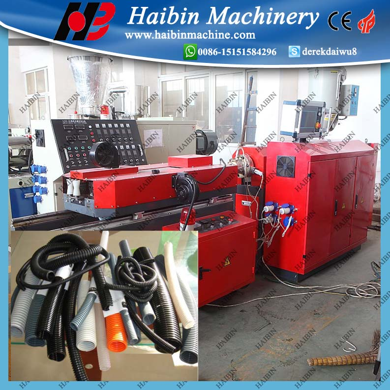 PE/PP Single Wall Corrugated Pipe Extrusion Machine