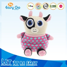 new design cute knitted plush soft cow toys