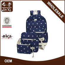 China suppliersTeenager waxed canvas backpack set,backpack canvas bag