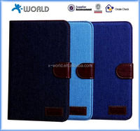 Hotselling Fashion Jeans Cloth PU Leather Tablet Case for Samsung Galaxy Tab A 7.0