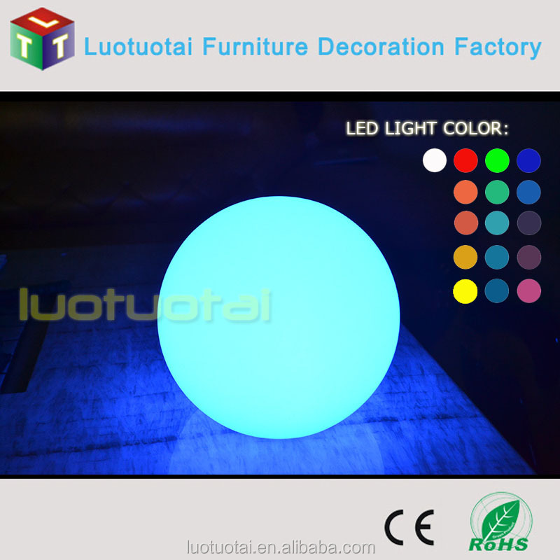 Professional portable 3d color led sphere rechargeable led ball light led bouncing ball