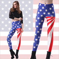 Fashion USA America Flag Women Digital Print Leggings