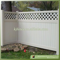 H6ft*W8ft cheap vinyl privacy fence with lattice top