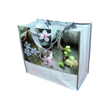 Personalized big capacity pp woven handmade shopping bag