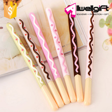 Creative Stationary Plastic Cute Fancy Pocky Biscuit Stick Ballpoint Pen for school office
