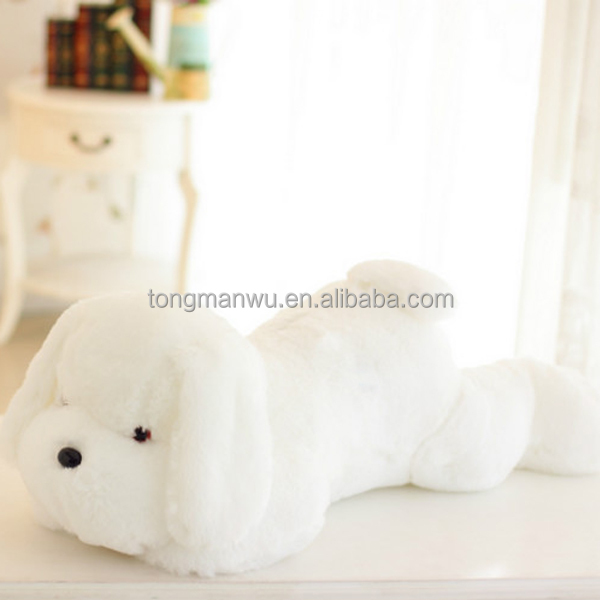 Customized puppy animal pillow music electronic plush dog toys