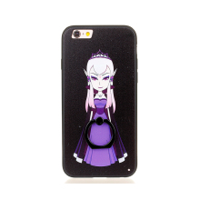 low cost with ring holder Cartoon character pattern cell phone cover for iPhone 7G