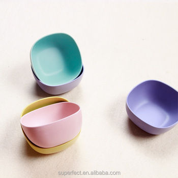 Hot style new products tableware healthy custom printed painted bamboo baby bowl