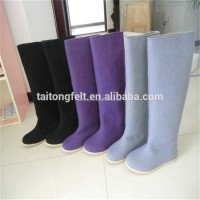 100% wool felt women knee snow boots