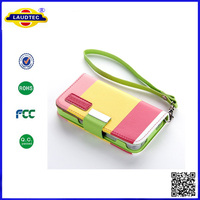 Multi-Colour Painting Series Wallet Leather Case Cover & Credit Card Holder and Phone Stand for iPhone4 4S Laudtec
