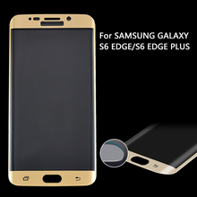 3D hot bending 100% full body cover with design tempered glass screen protector for Samsung Galaxy S6 edge & S6 edge plus