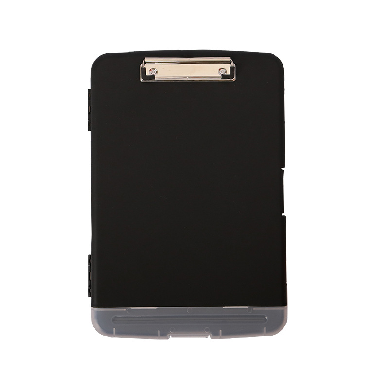 Hot selling officemate custom FC size  black clipboard storage box