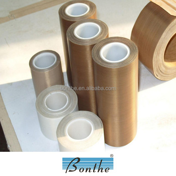 2016 Bonthe 260C heat resistant jumbo roll ptfe teflon fiberglass tape with silicone adhesive made in China