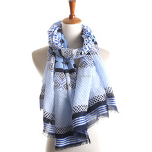 TR cotton long scarf women printing scarf wholesale OEM brand