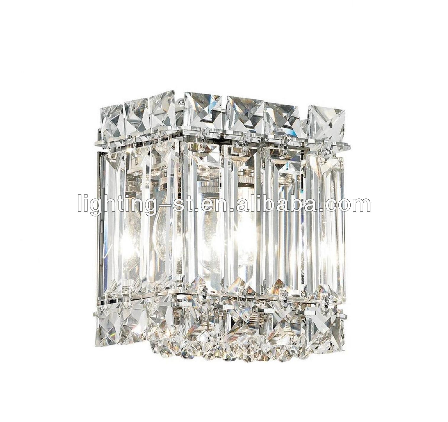 "Contemporary Schonbek Quantum Collection 5"" High Crystal Wall lamp Sconce"