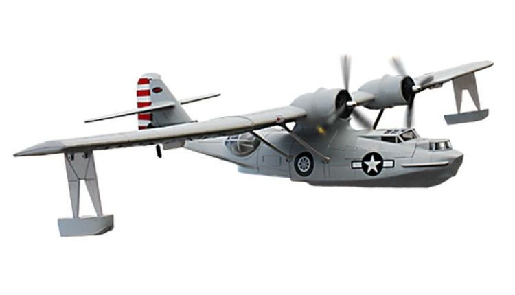 1068943-Dynam 4-CH PBY Catalina 1470MM Brushless Remote Control Seaplane 2.4G RTF