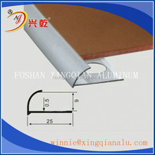 Foshan Factory Price Round Shape 10mm aluminum quarter round