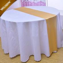 Weisdin polyester durable plain dyed gold table runner