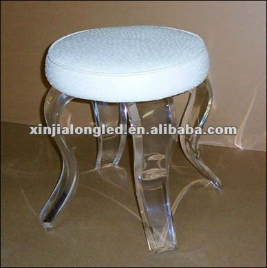 Acrylic Bathroom Stool Acrylic Vanity Stool with Cushion