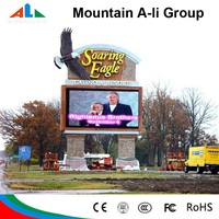 LED digital sign board with front open cabinet