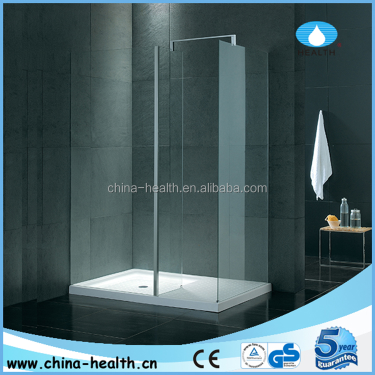 full set complete walk-in shower door with acrylic shower base JQ304