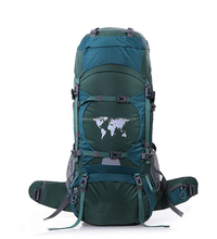 Unique fancy design hiking backpack with map pattern made in China