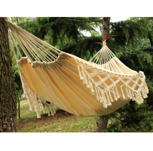 popular Comfortable Double Woven Hammock Cotton