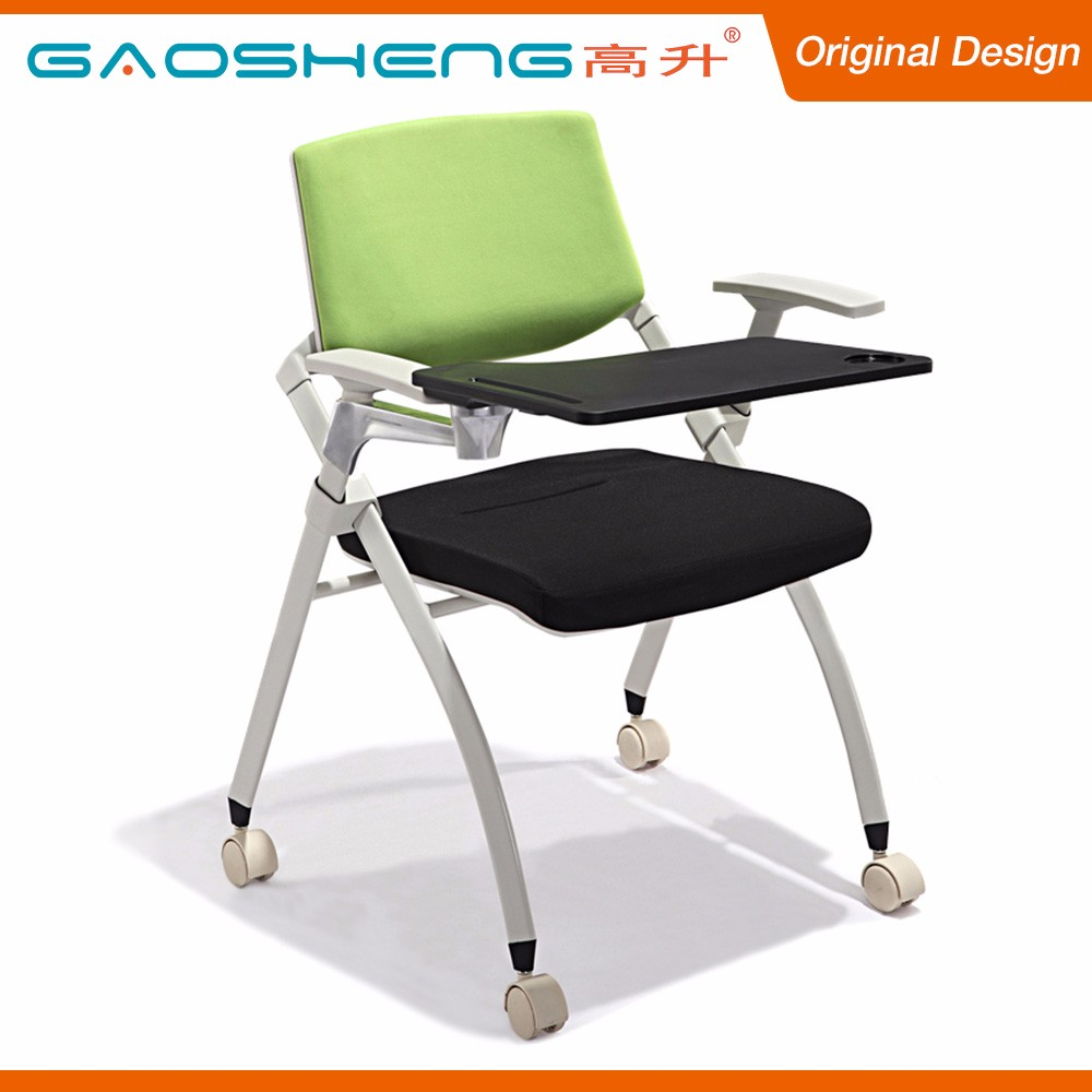 Modern Design Fabric Chair School Furniture With Tablet Arm