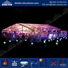 Guangzhou 1000 people aluminum marquee party tent clear PVC window