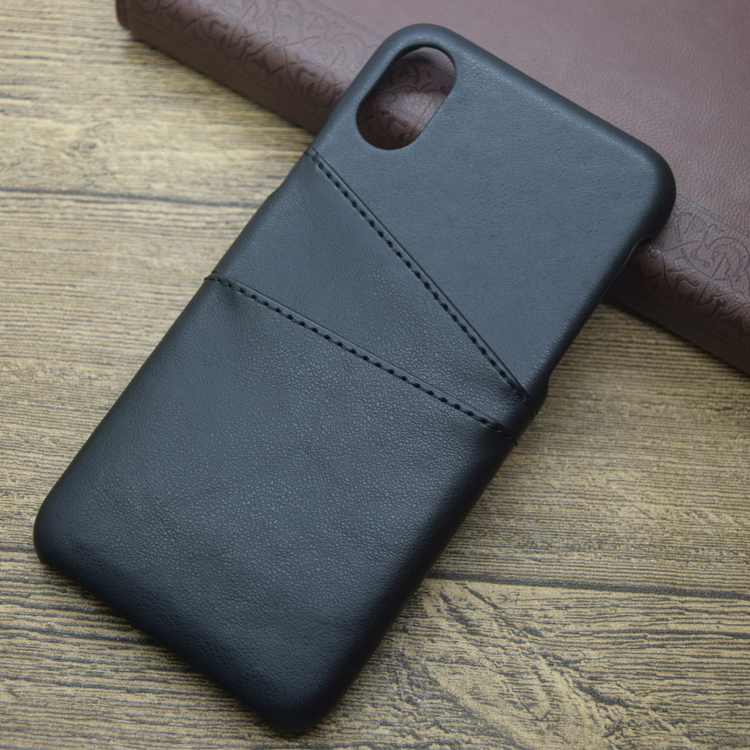 New Arrivals Soft Ultra Slim Leather Case with Slot Holder For Iphone 8