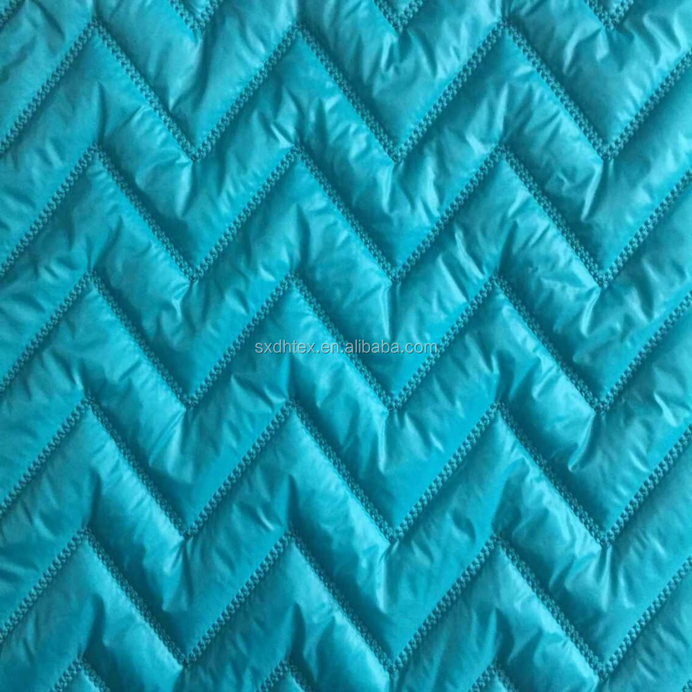 Double faced polyester quilted coat lining fabirc