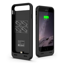 2017 MFI 3100 mAh detachable backup TPU+ABS wholeset Battery Power Case for iPhone 7/7plus with protect bumper ,OEM provided