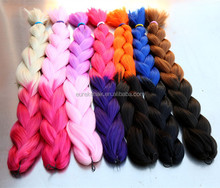 Ombre two tone x pression crochet box braids,synthetic jumbo braids hair