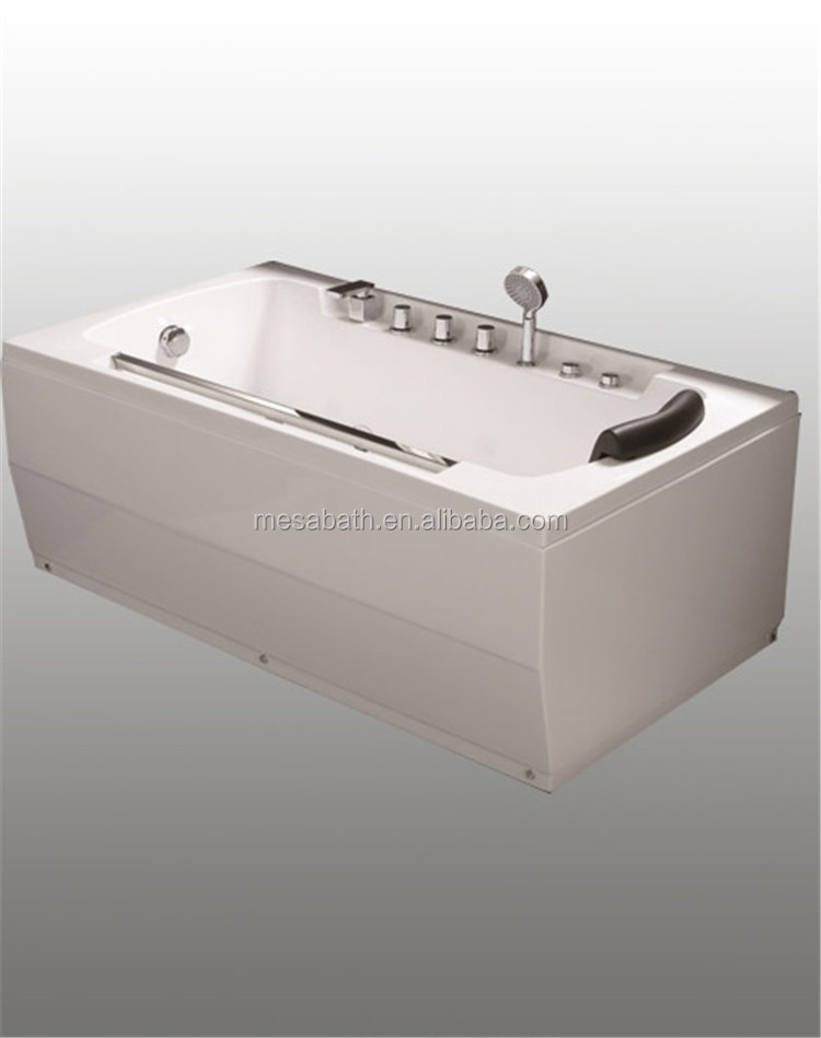 Hot acrylic corner rectangular whirlpool massage jetted buy cheap acrylic fiberglass bathtubs 58 inches long for sale
