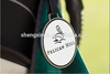 Personalized Golf Bag Metal Luggage Tag with Leather String