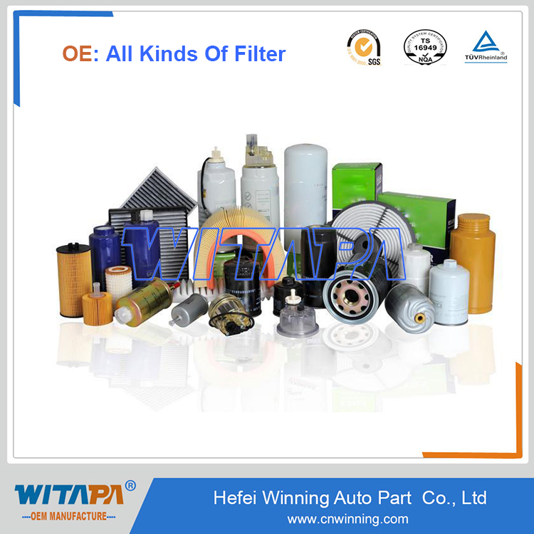 Manufacture All Kinds of Oil Filter With Genuine Original Quality In ISO9001/TS16949