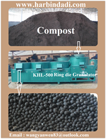 1-2 t/h Poultry waste compost Chicken manure to pellet machine