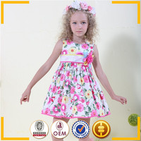OEM service kids casual designs dancing party wear dresses fast shipping