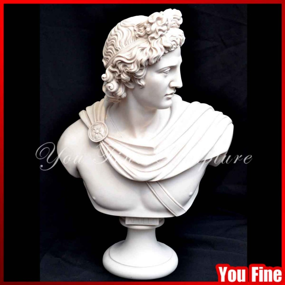 Natural Stone Apollo Marble Head Bust