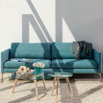 Scandinavian Design European Style Living Room Velvet Fabric Sofa ...